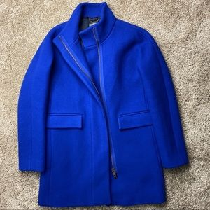 J.Crew Stadium Cloth Wool Cocoon Coat Cobalt 6T